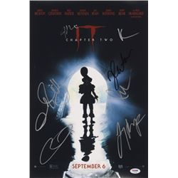 """""""IT Chapter Two"""" 12x18 Movie Poster Print Signed By (7) with James McAvoy, Jay Ryan, Isaiah Mustafa,"""