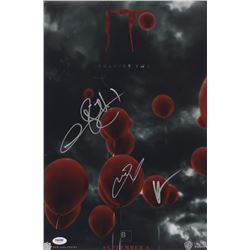 """James McAvoy, Bill Hader  Andy Muschietti Signed """"IT Chapter Two"""" 12x18 Movie Poster Print (PSA LOA)"""
