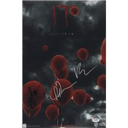 """Jessica Chastain, Bill Hader,  Isaiah Mustafa Signed """"IT Chapter Two"""" 12x18 Movie Poster Print (PSA"""