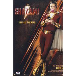 """Zachary Levi Signed """"Shazam! """" 12x18 Movie Poster Print (PSA COA)"""
