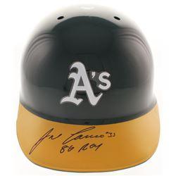 "Jose Canseco Signed Oakland Athletics Authentic Full-Size Batting Helmet Inscribed ""86 ROY"" (FSC COA"