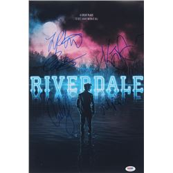 """""""Riverdale"""" 12x18 Poster Print Signed By (5) with Lili Reinhart, KJ Apa, Cole Sprouse, Madelaine Pet"""