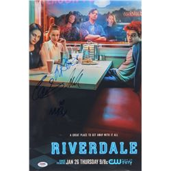 """""""Riverdale"""" 12x18 Poster Print Signed By (4) with Lili Reinhart, Cole Sprouse, Madelaine Petsch,  Ca"""
