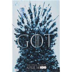 """Jacob Anderson  Maisie Williams Signed """"Game of Thrones"""" 12x18 Poster Print (PSA COA)"""