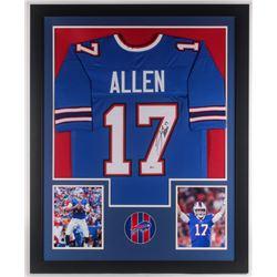 Josh Allen Signed 35x43 Custom Framed Jersey (Beckett COA)