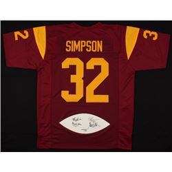 LE Heisman Trophy Winners Jersey with Football Panel Signed By (4) With Marcus Allen, O.J. Simpson,