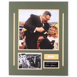 Vince Lombardi 16x20 Custom Matted Display with (1) Hand-Written Word from Letter (PSA LOA Copy)