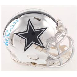 Michael Irvin Signed Dallas Cowboys Chrome Speed Mini Helmet (Beckett COA)