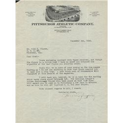 Barney Dreyfuss Signed Letter (JSA LOA)