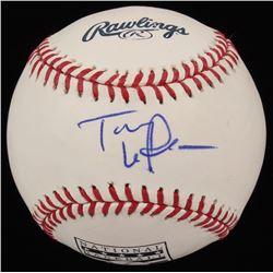 Tony La Russa Signed OML Hall of Fame Logo Baseball (PSA COA)