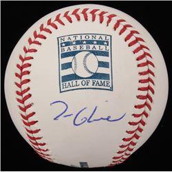 Tom Glavine Signed OML Hall of Fame Logo Baseball (JSA COA)