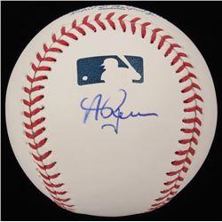 Andrew Benintendi Signed OML Baseball (JSA COA)