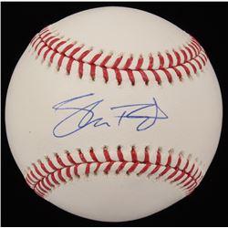 Shane Bieber Signed OML Baseball (JSA COA)
