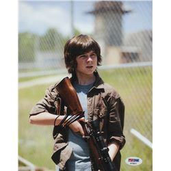 """Chandler Riggs Signed """"The Walking Dead"""" 8x10 Photo (PSA COA)"""