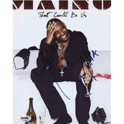 """Maino Signed 8x10 Photo Inscribed """"Mafia"""" (PSA COA)"""