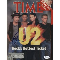 Larry Mullen Jr. Signed 1987 Time Magazine Cover Page (JSA COA)