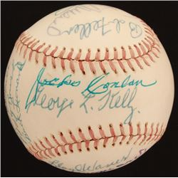 ONL Baseball Signed by (15) with Stan Musial, Ralph Kiner, Bob Feller, Yogi Berra (JSA LOA)