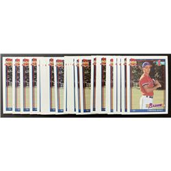 Lot of (25) 1991 Topps #333 Chipper Jones RC