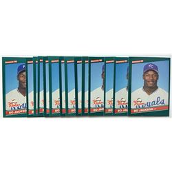 Lot of (15) 1986 Donruss Rookies #38 Bo Jackson RC