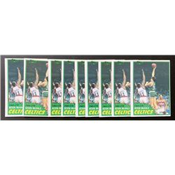 Lot of (10) 1981-82 Topps #E75 Kevin McHale RC