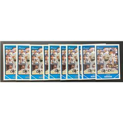 Lot of (10) 2007 Bowman Chrome Draft Future's Game Prospects #BDPP77 Clayton Kershaw
