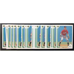 Lot of (25) 1991 Upper Deck #55 Chipper Jones RC
