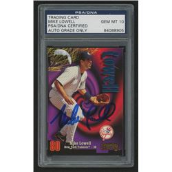 Mike Lowell Signed 1998 Circa Thunder #133 RC (PSA Encapsulated)