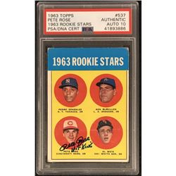 "Pete Rose Signed 1963 Topps #537 RC Inscribed ""Hit King"" - Autograph Graded PSA 10 (PSA Encapsulated"