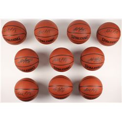 Lot of (10) Kobe Bryant Signed NBA Basketballs (PSA Hologram)