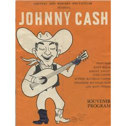 Johnny Cash Country  Western Spectacular Souvenir Program