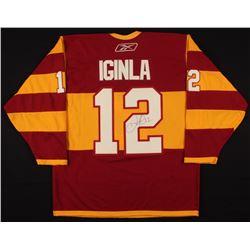 Jarome Iginla Signed Calgary Flames Captain Jersey (PSA COA)