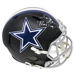 "Deion Sanders Signed Dallas Cowboys Full-Size Flat Matte Black Speed Helmet Inscribed ""Primetime"" (S"