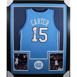 Vince Carter Signed 35x43 Custom Framed Jersey (Beckett COA)
