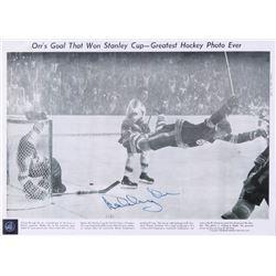 """Bobby Orr Signed Boston Bruins """"The Flying Goal"""" 11x14 Flat (Your Sports Memorabilia Store COA  Orr"""