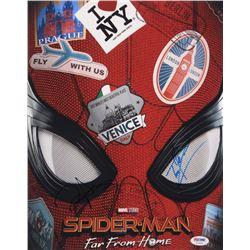 "Tom Holland  Zendaya Signed ""Spider-Man: Far From Home"" 11x14 Photo (PSA COA)"