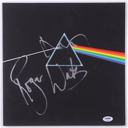 """Roger Waters  Nick Mason Signed Pink Floyd """"The Dark Side of the Moon"""" Vinyl Record Album Cover (PSA"""