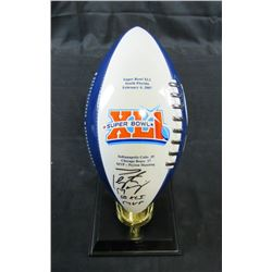 Peyton Manning Signed Indianapolis Colts Danbury Mint Super Bowl Porcelain Football Trophy Inscribed
