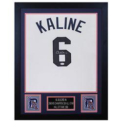Al Kaline Signed 24x30 Custom Framed Jersey Display (JSA COA)