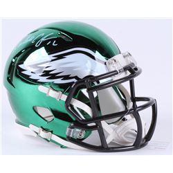Randall Cunningham Signed Philadelphia Eagles Chrome Speed Mini-Helmet (JSA COA)