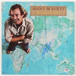 "Jimmy Buffett Signed ""Somewhere Over China"" Vinyl Record Album Cover (PSA COA)"