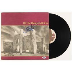 """The Edge Signed U2 """"The Unforgettable Fire"""" Vinyl Record Album (PSA COA)"""