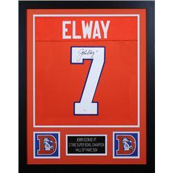 John Elway 24x30 Custom Framed Jersey Display (JSA COA)