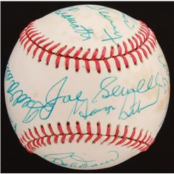 Hall of Famers OAL Baseball Signed by (13) with Ted Williams, Willie Mays, Ralph Kiner, Joe Sewell I