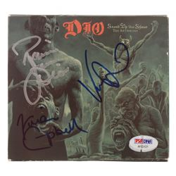 """Ronnie James Dio, Vivian Campbell  Vinny Appice Signed Dio """"Stand Up and Shout: The Anthology"""" CD Al"""