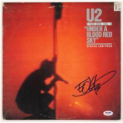 "The Edge Signed U2 ""Under A Blood Red Sky"" Vinyl Record Album Cover (PSA COA)"