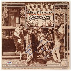 "Alice Cooper Signed ""Alice Cooper's Greatest Hits"" Vinyl Album Cover (PSA COA)"