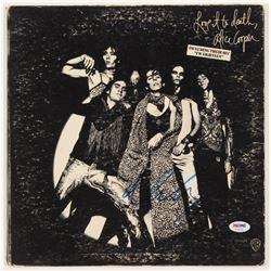 "Alice Cooper Signed ""Love It To Death"" Vinyl Album Cover (PSA COA)"