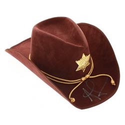 """Andrew Lincoln Signed """"The Walking Dead"""" Sheriff Hat (PSA COA)"""
