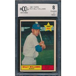 1961 Topps #141 Billy Williams RC (BCCG 8)