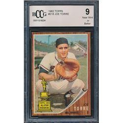 1962 Topps #218 Joe Torre RC (BCCG 9)